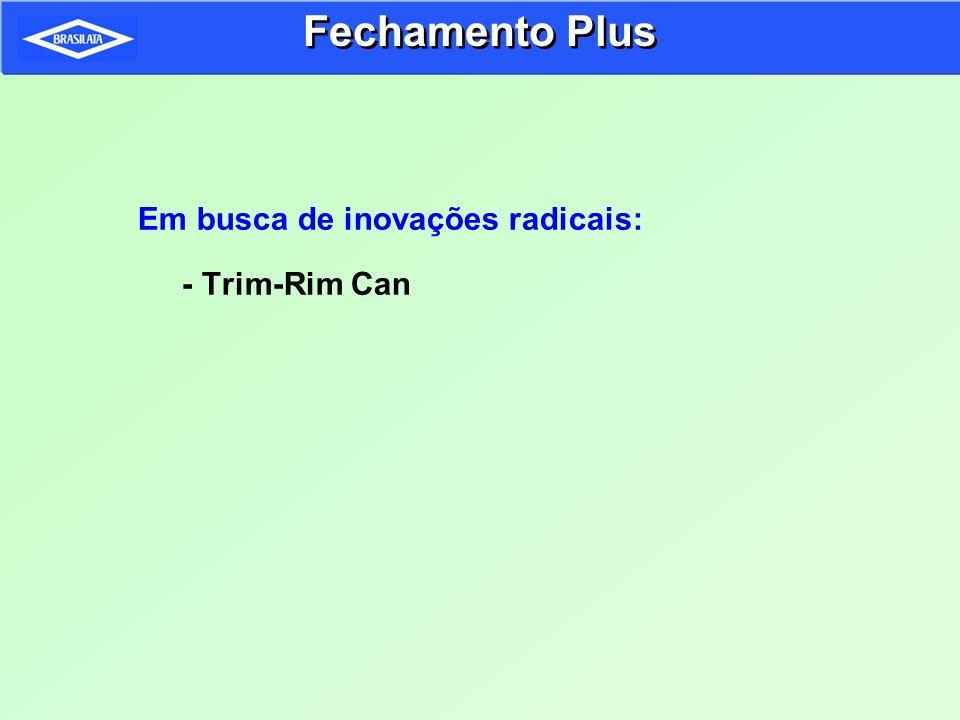 Fechamento Plus Em busca de inovações radicais: - Trim-Rim Can