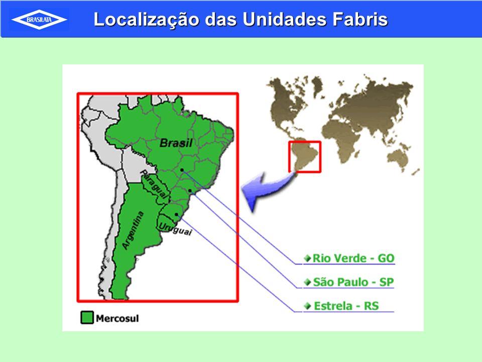 Localização das Unidades Fabris