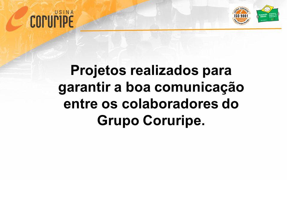 Projetos realizados para garantir a boa comunicação entre os colaboradores do Grupo Coruripe.