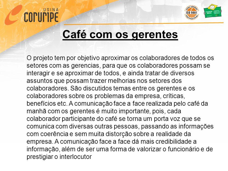 Café com os gerentes