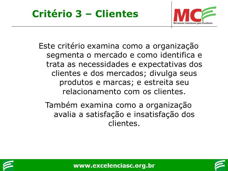 Critério 3 – Clientes