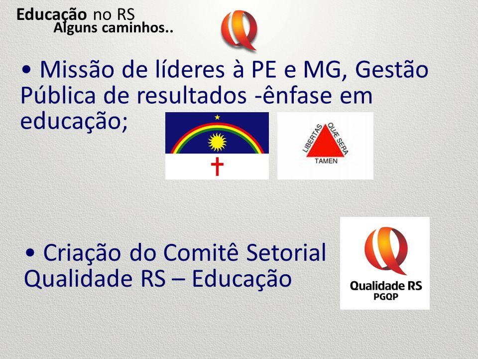 Criação do Comitê Setorial Qualidade RS – Educação