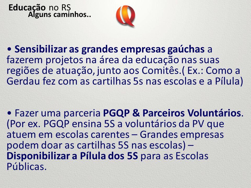 Educação no RSAlguns caminhos..