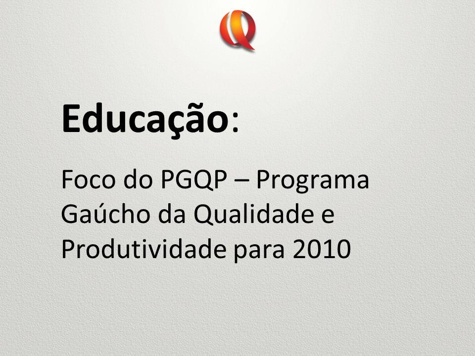 Educação: Foco do PGQP – Programa Gaúcho da Qualidade e Produtividade para 2010