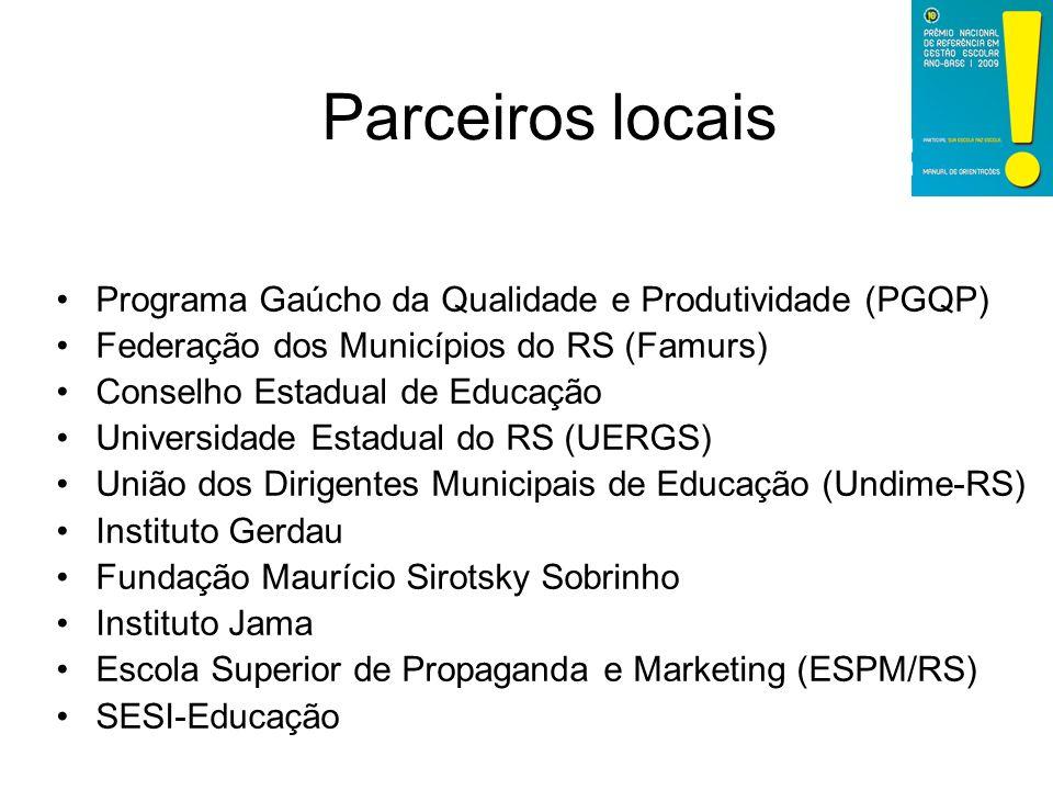 Parceiros locais Programa Gaúcho da Qualidade e Produtividade (PGQP)