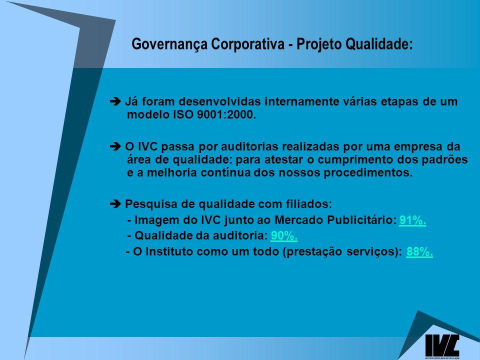 Governança Corporativa - Projeto Qualidade:
