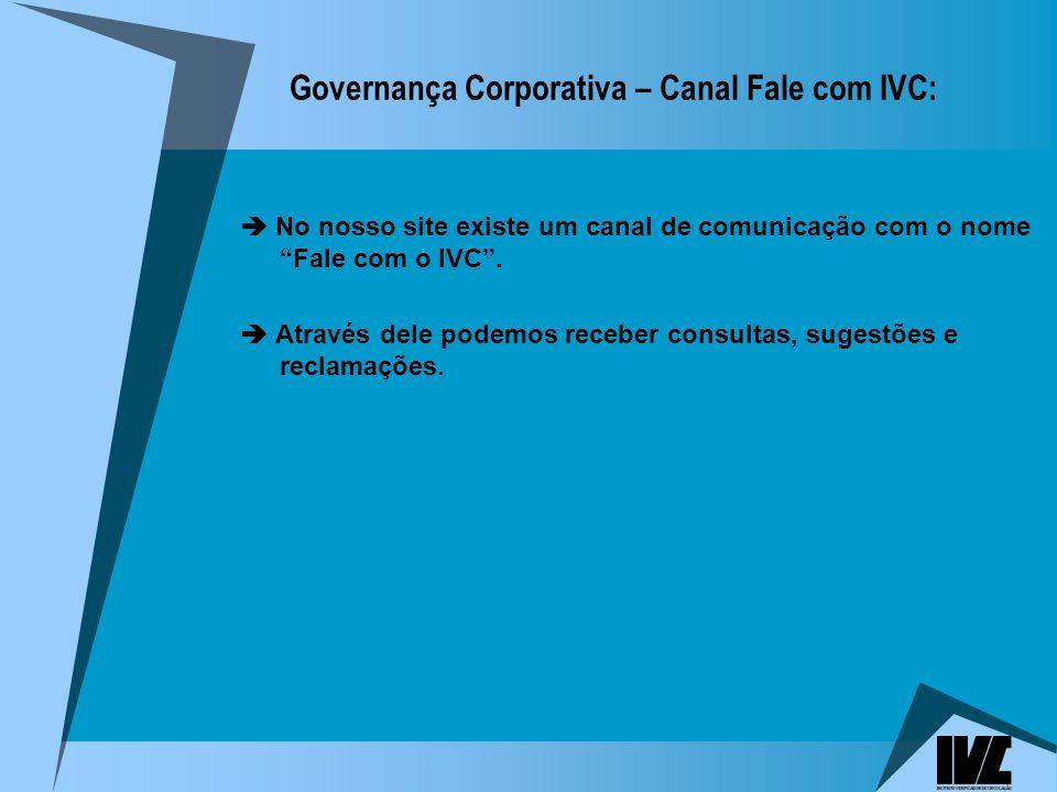 Governança Corporativa – Canal Fale com IVC: