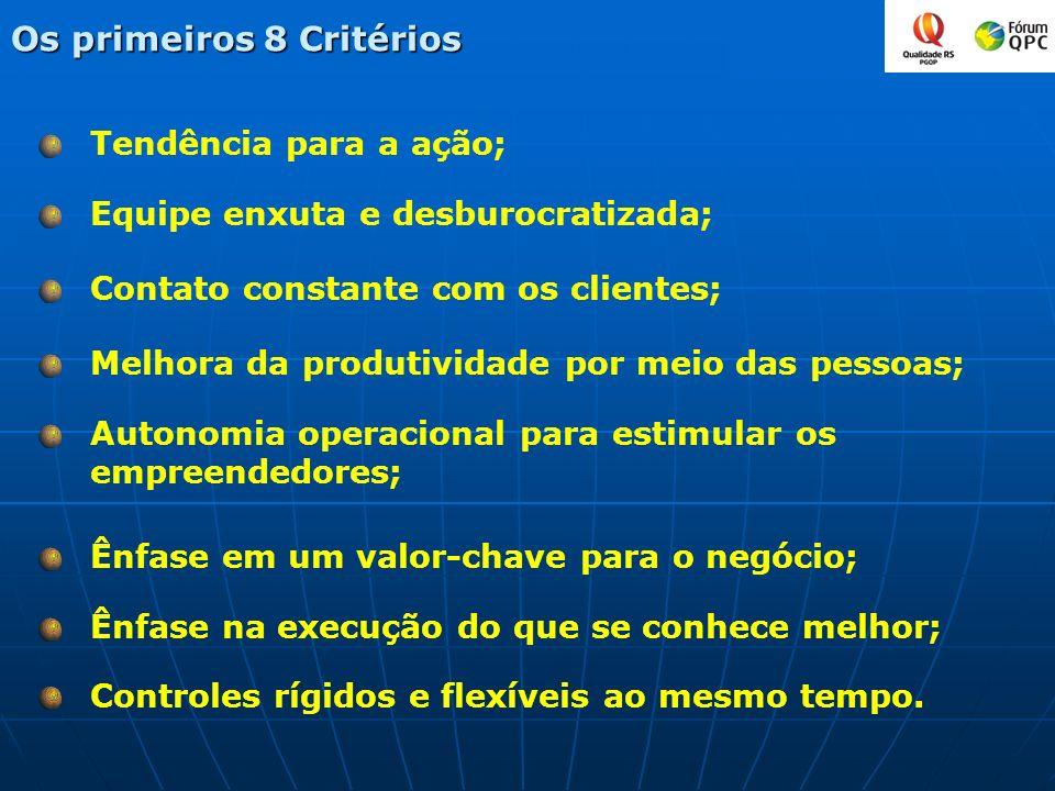 Os primeiros 8 Critérios
