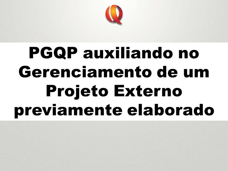 PGQP auxiliando no Gerenciamento de um Projeto Externo previamente elaborado