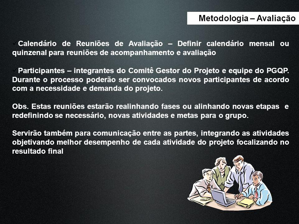 Metodologia – Avaliação