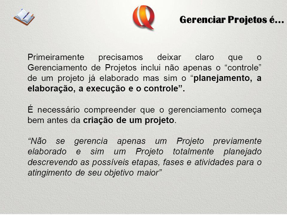 Gerenciar Projetos é...