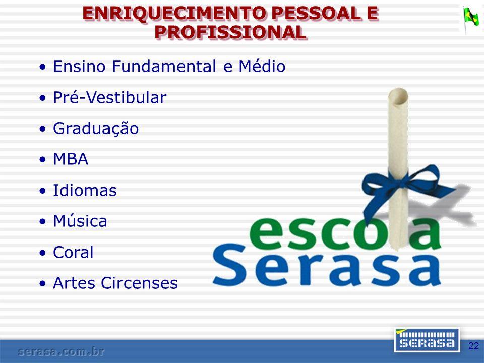 ENRIQUECIMENTO PESSOAL E PROFISSIONAL