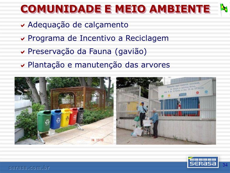 COMUNIDADE E MEIO AMBIENTE