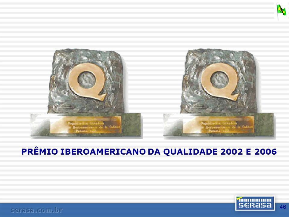 PRÊMIO IBEROAMERICANO DA QUALIDADE 2002 E 2006