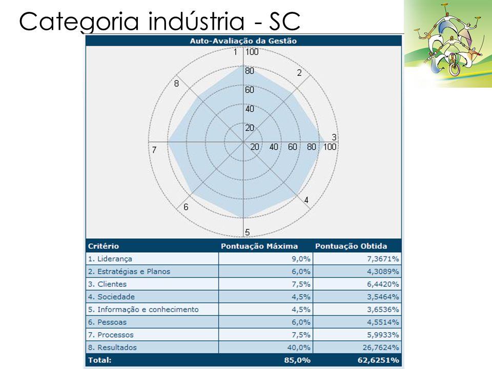 Categoria indústria - SC