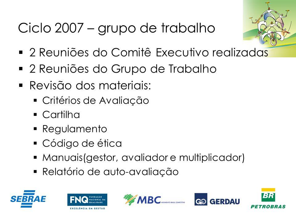 Ciclo 2007 – grupo de trabalho