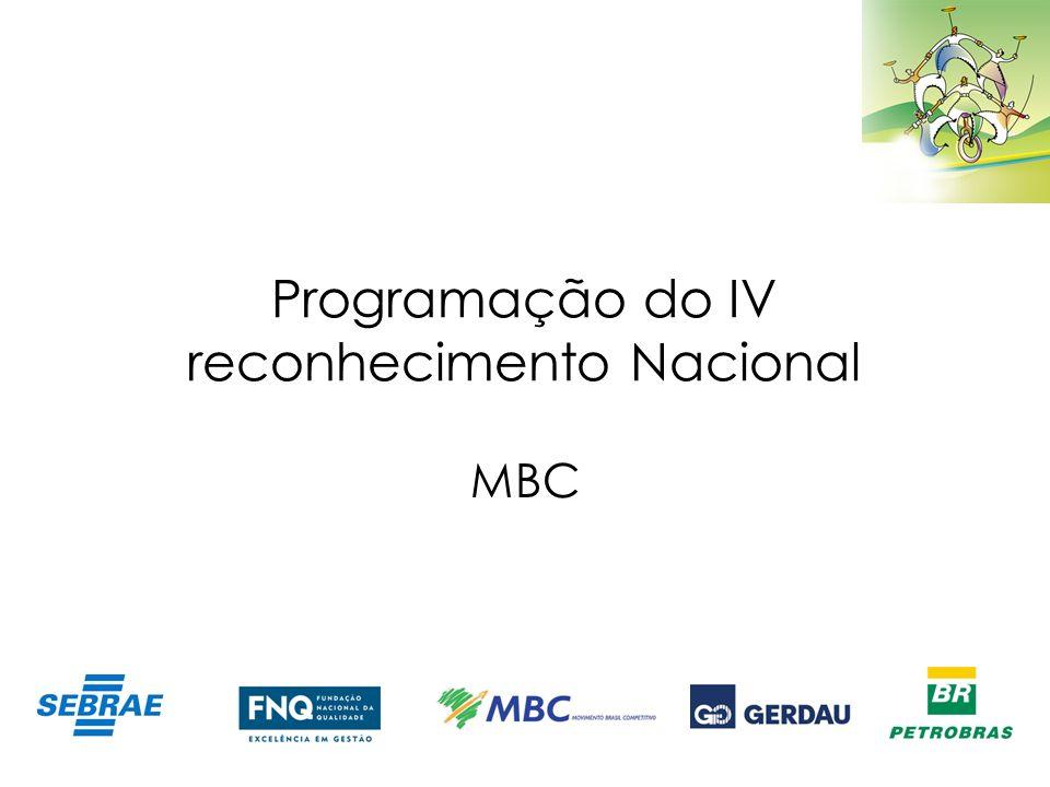 Programação do IV reconhecimento Nacional