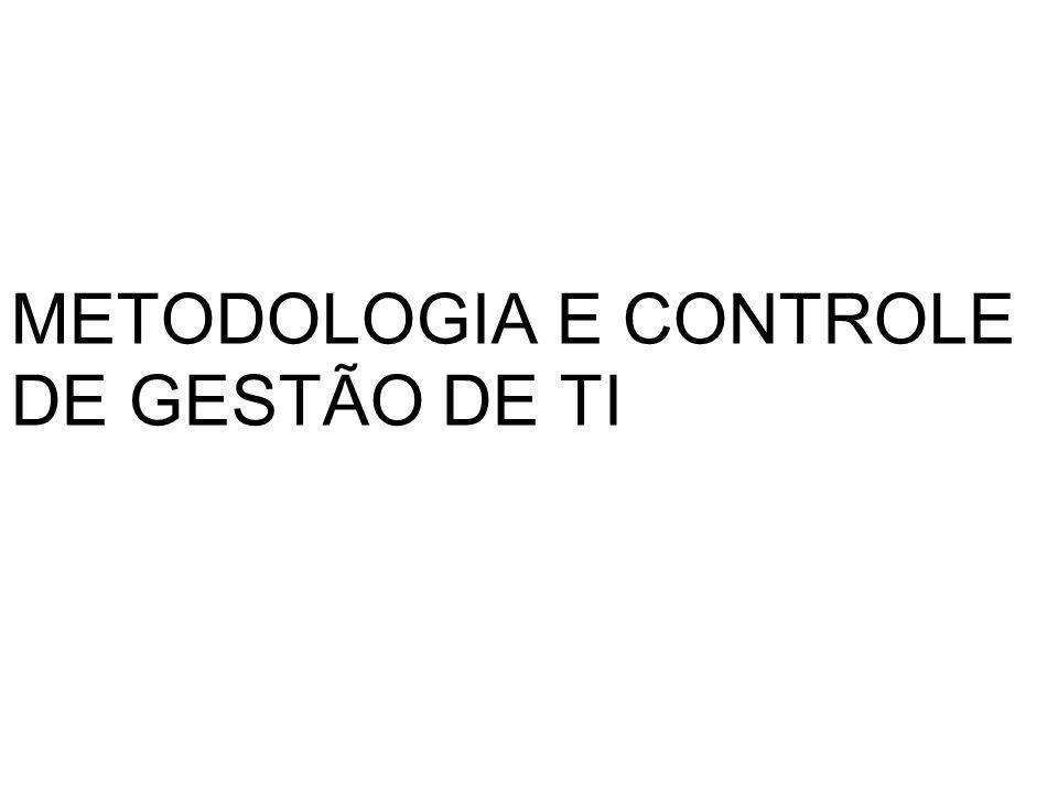 METODOLOGIA E CONTROLE DE GESTÃO DE TI