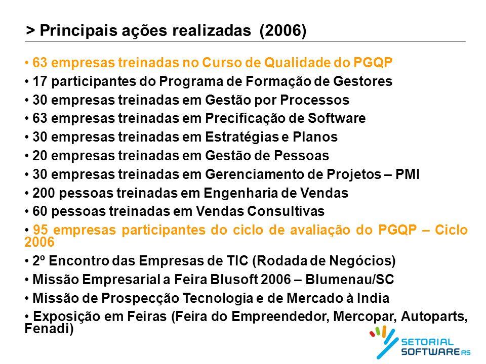 > Principais ações realizadas (2006)