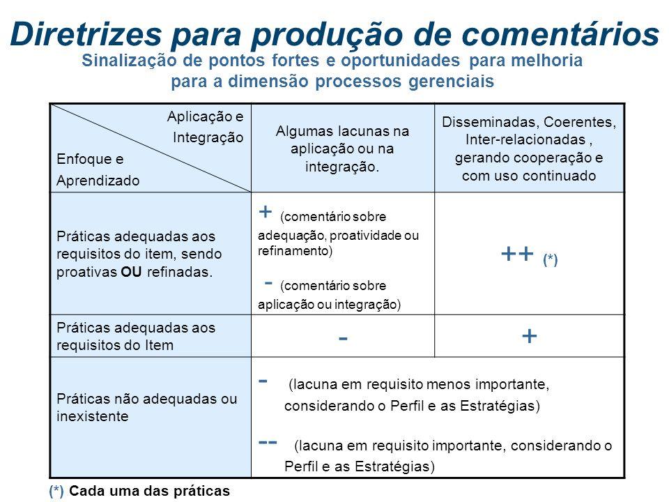 Diretrizes para produção de comentários