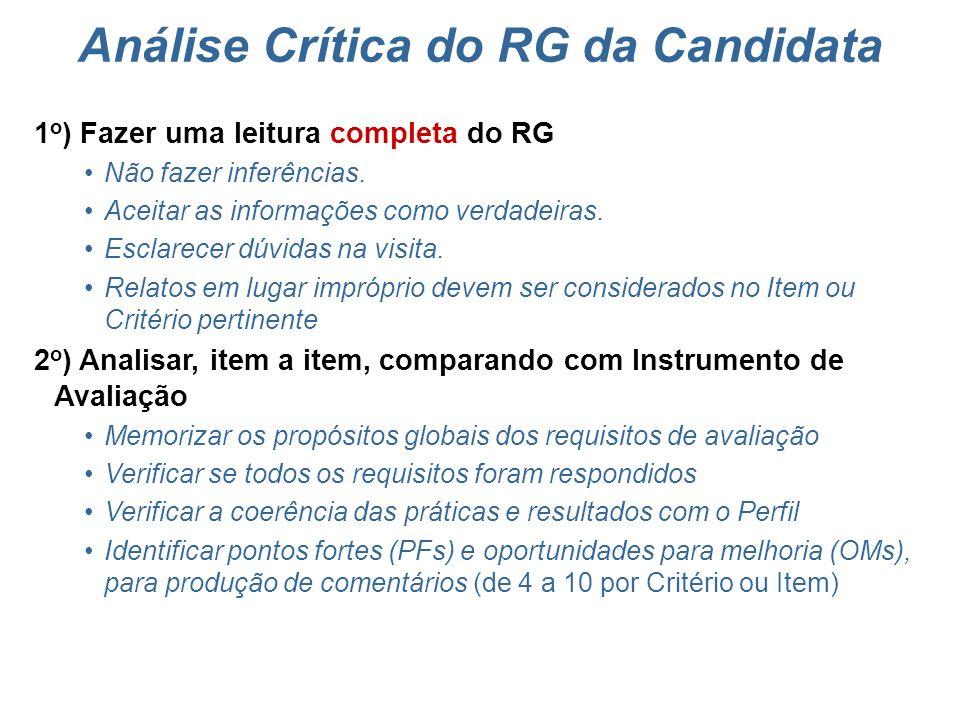 Análise Crítica do RG da Candidata