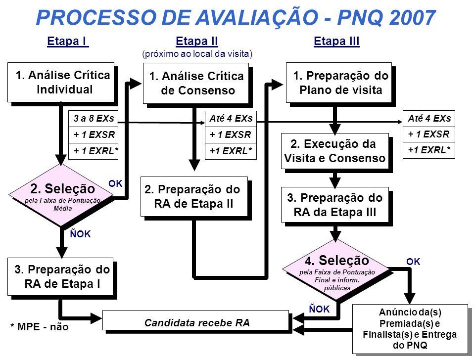 PROCESSO DE AVALIAÇÃO - PNQ 2007