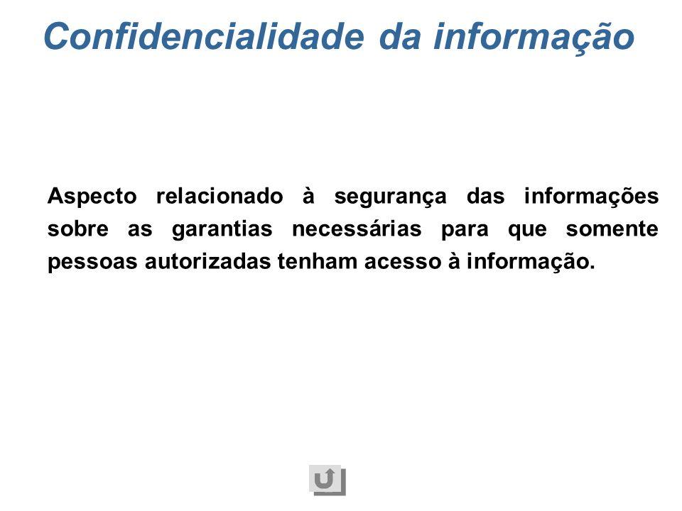 Confidencialidade da informação