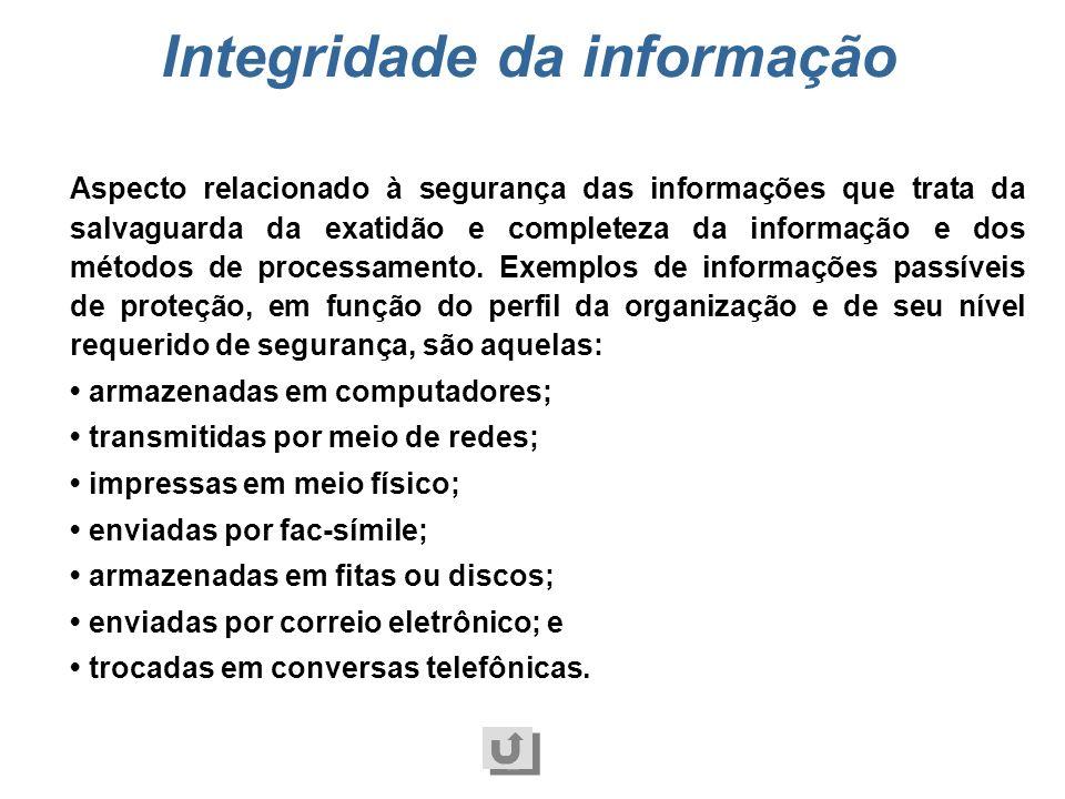 Integridade da informação