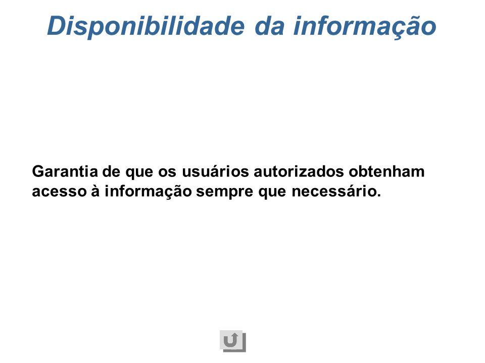 Disponibilidade da informação