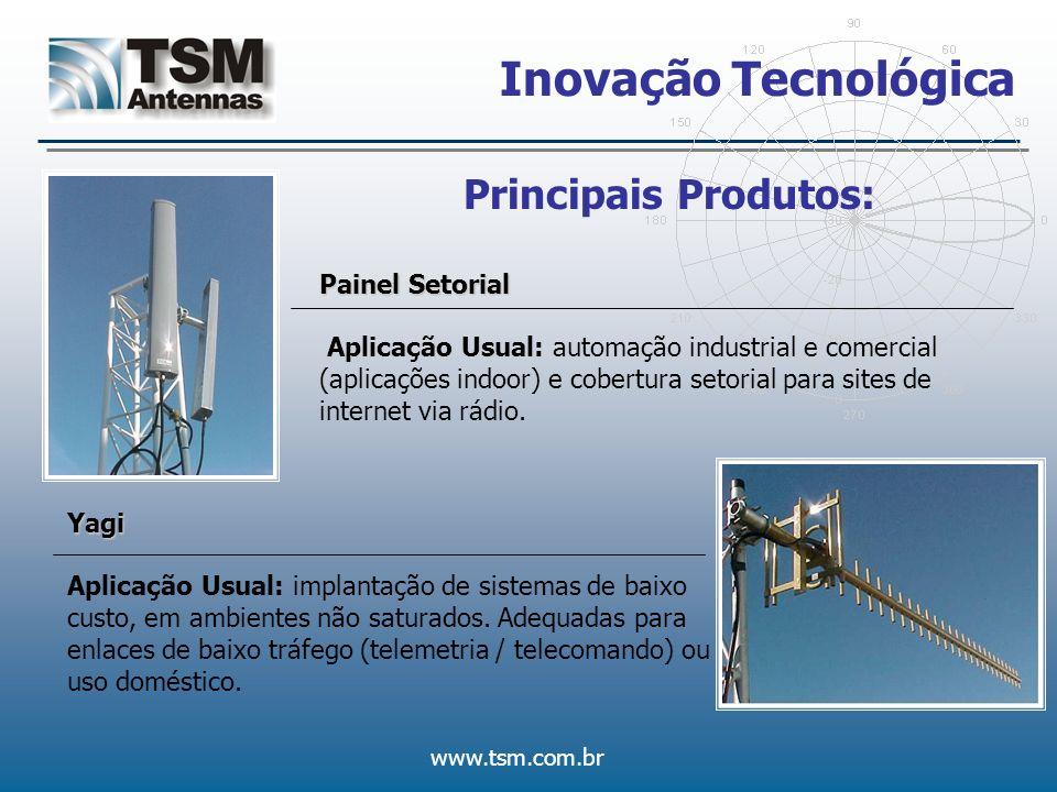 Inovação Tecnológica Principais Produtos: Painel Setorial