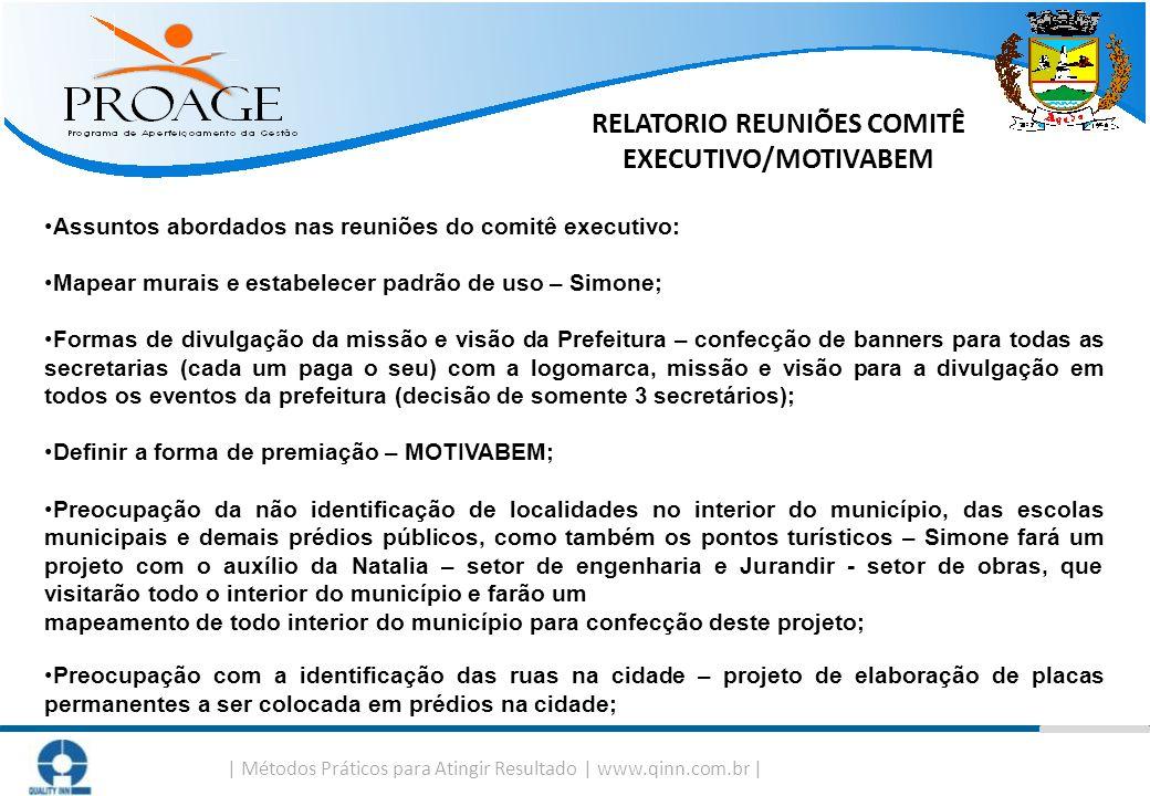 RELATORIO REUNIÕES COMITÊ EXECUTIVO/MOTIVABEM