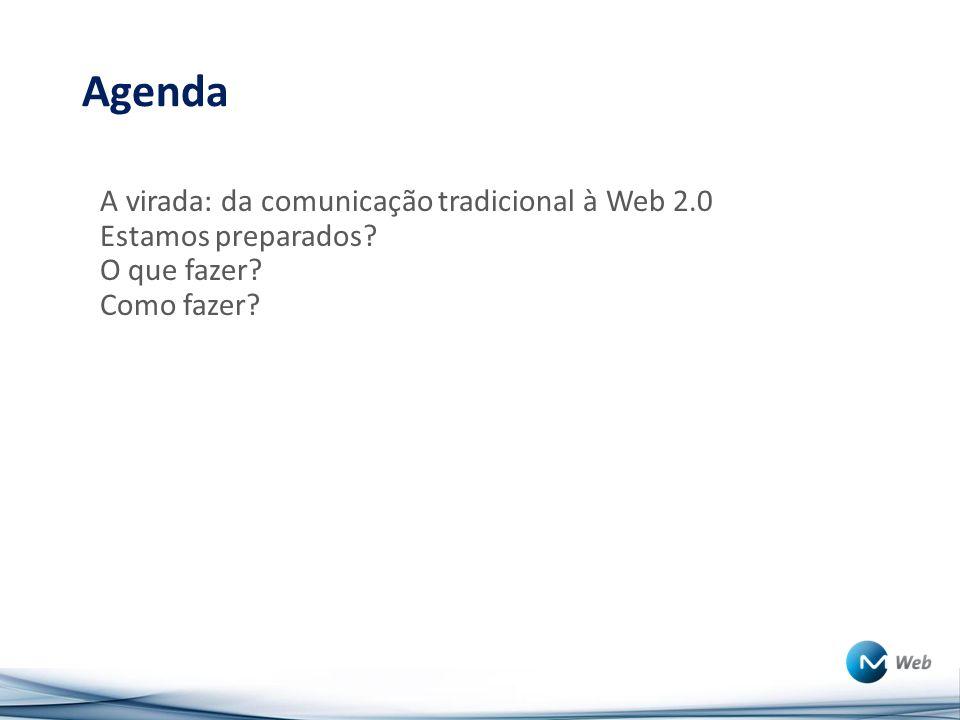 Agenda A virada: da comunicação tradicional à Web 2.0