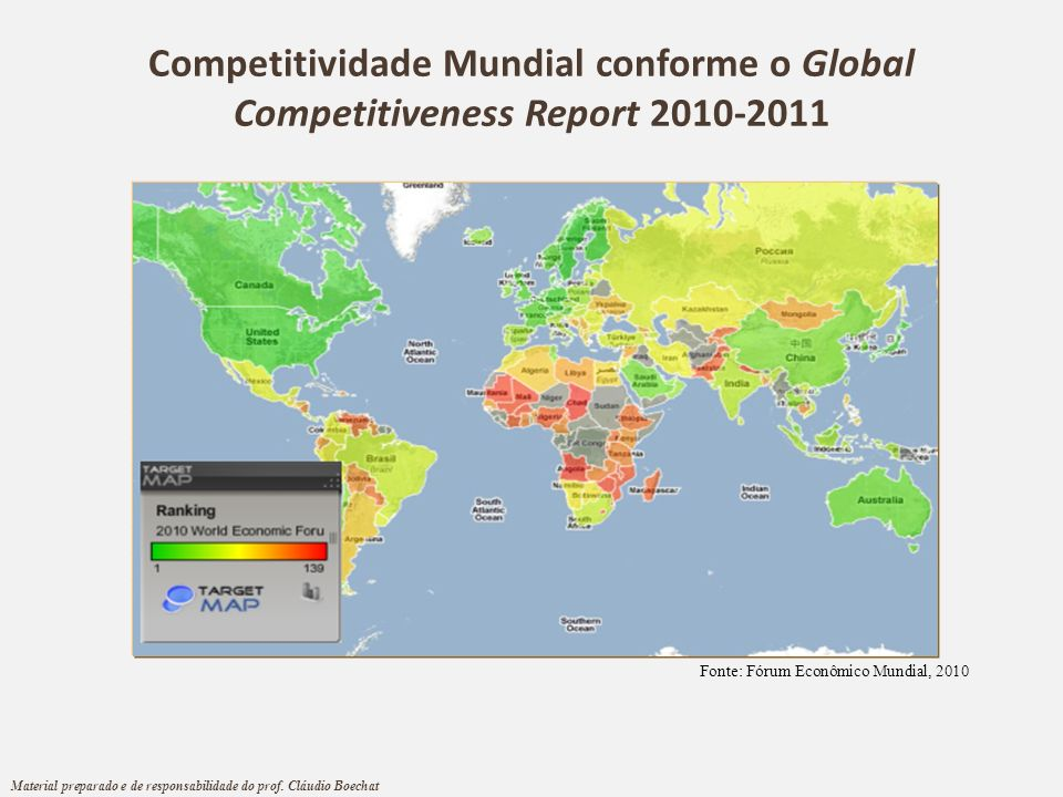 Competitividade Mundial conforme o Global Competitiveness Report 2010-2011