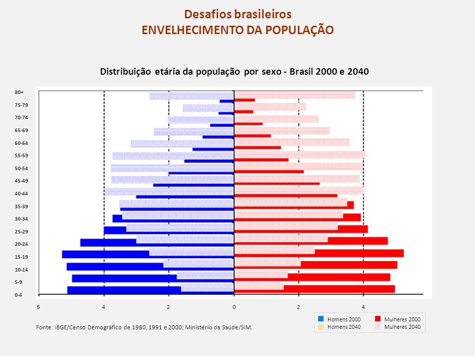 Desafios brasileiros ENVELHECIMENTO DA POPULAÇÃO