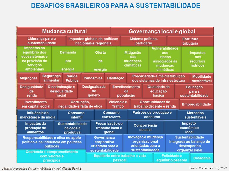DESAFIOS BRASILEIROS PARA A SUSTENTABILIDADE
