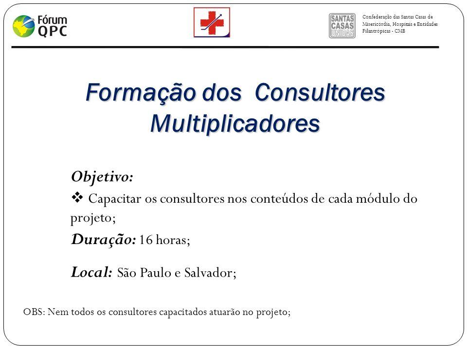 Formação dos Consultores Multiplicadores