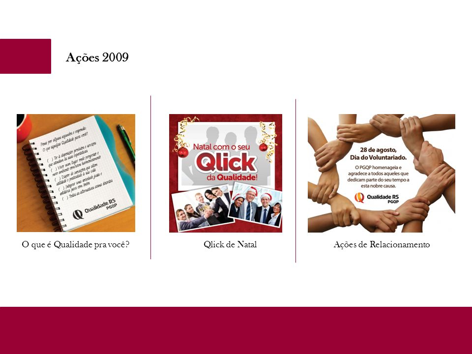 Ações 2009 O que é Qualidade pra você Qlick de Natal