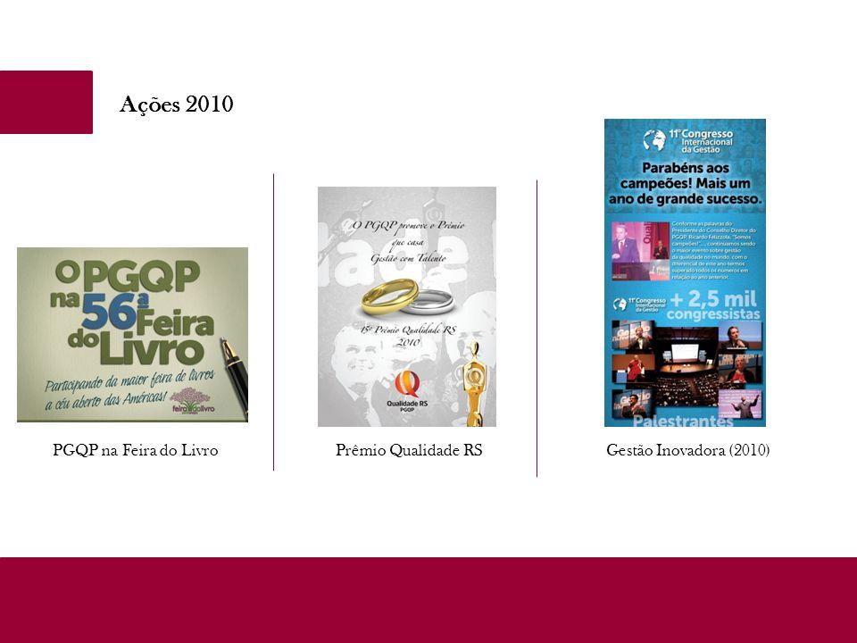 Ações 2010 PGQP na Feira do Livro Prêmio Qualidade RS