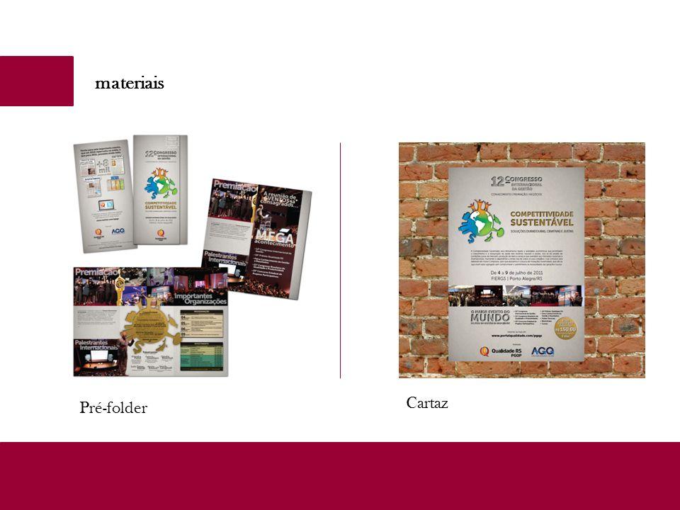 materiais Cartaz Pré-folder