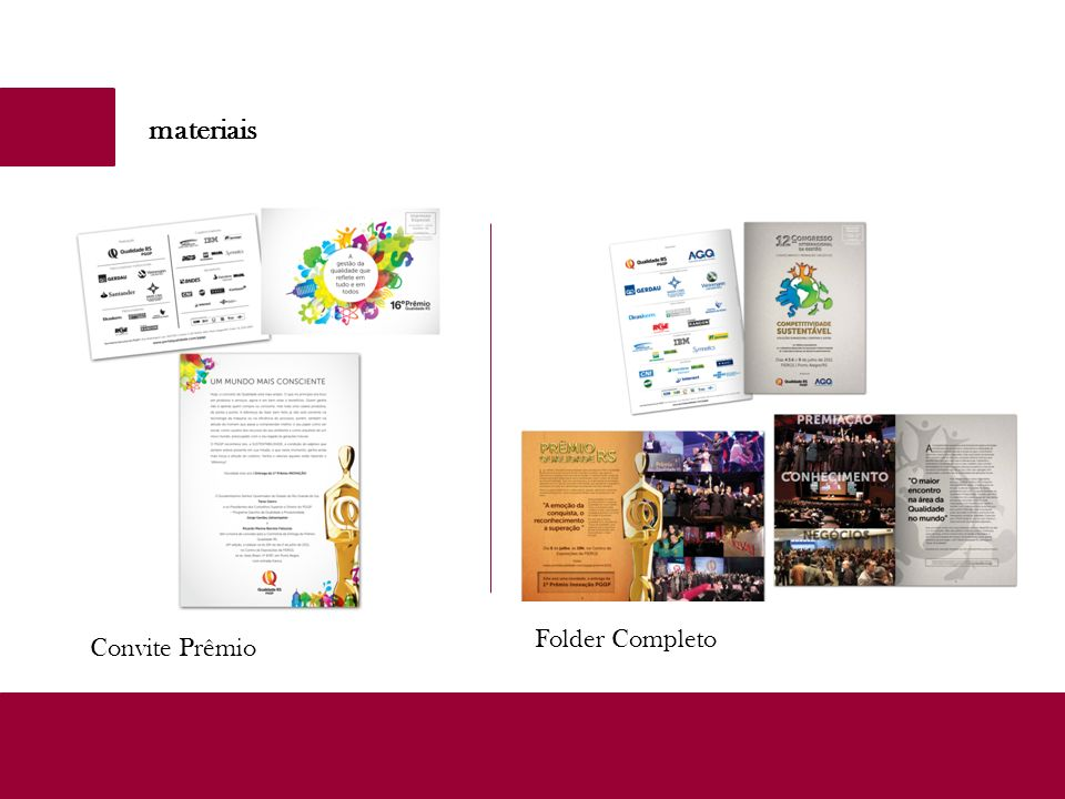 materiais Folder Completo Convite Prêmio