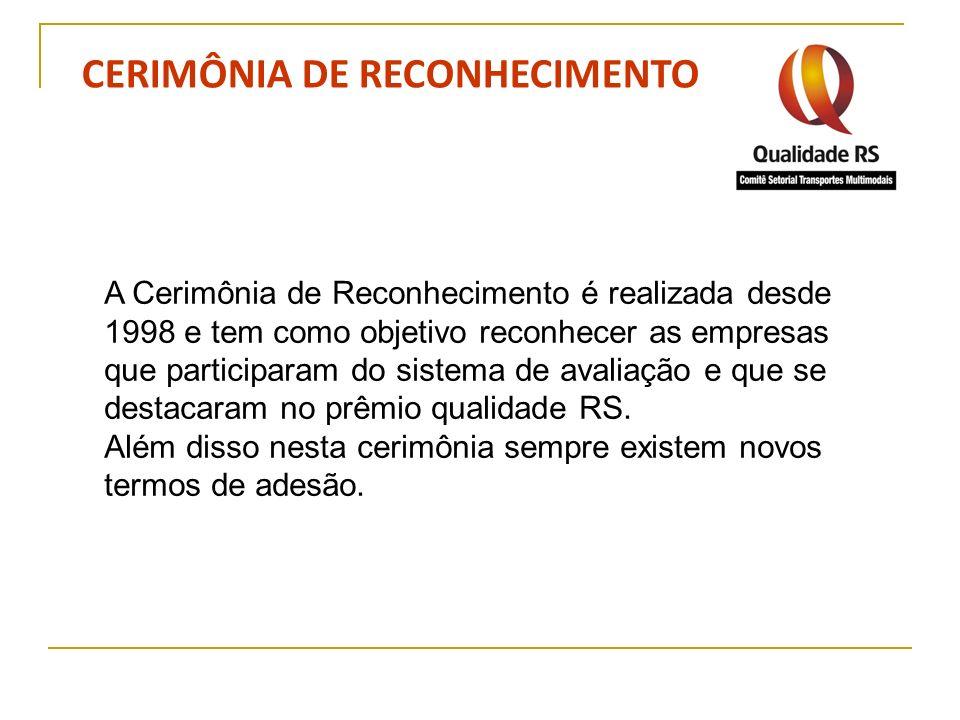 CERIMÔNIA DE RECONHECIMENTO