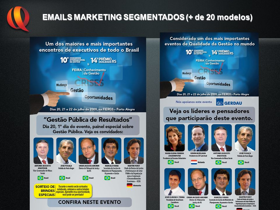 EMAILS MARKETING SEGMENTADOS (+ de 20 modelos)