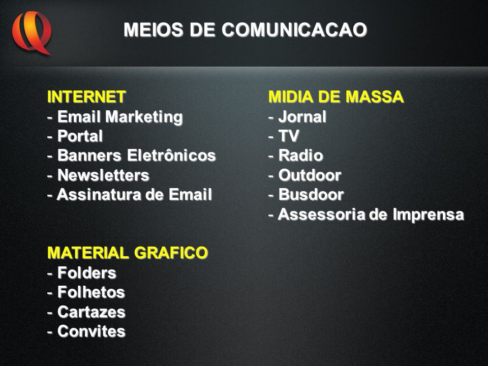 MEIOS DE COMUNICACAO INTERNET Email Marketing Portal