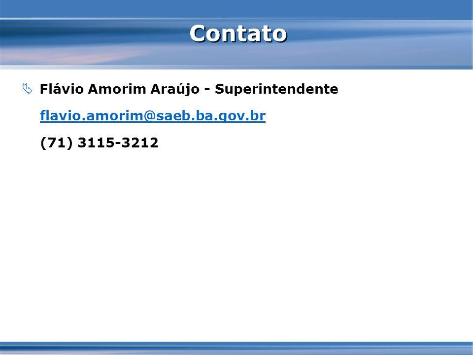 Contato Flávio Amorim Araújo - Superintendente