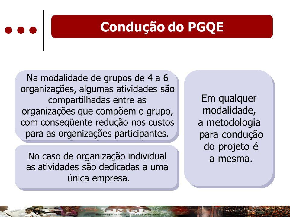 Condução do PGQE