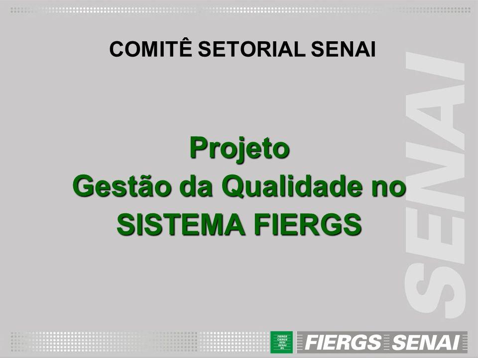 Projeto Gestão da Qualidade no SISTEMA FIERGS