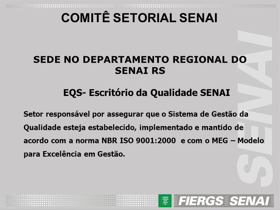 COMITÊ SETORIAL SENAI SEDE NO DEPARTAMENTO REGIONAL DO SENAI RS