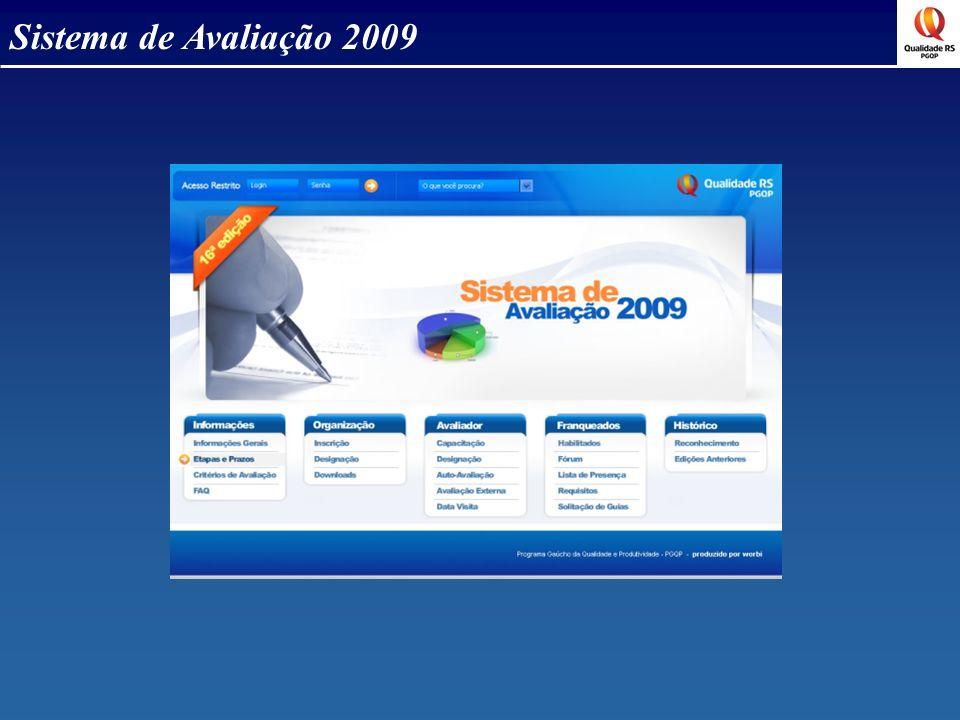 Sistema de Avaliação 2009