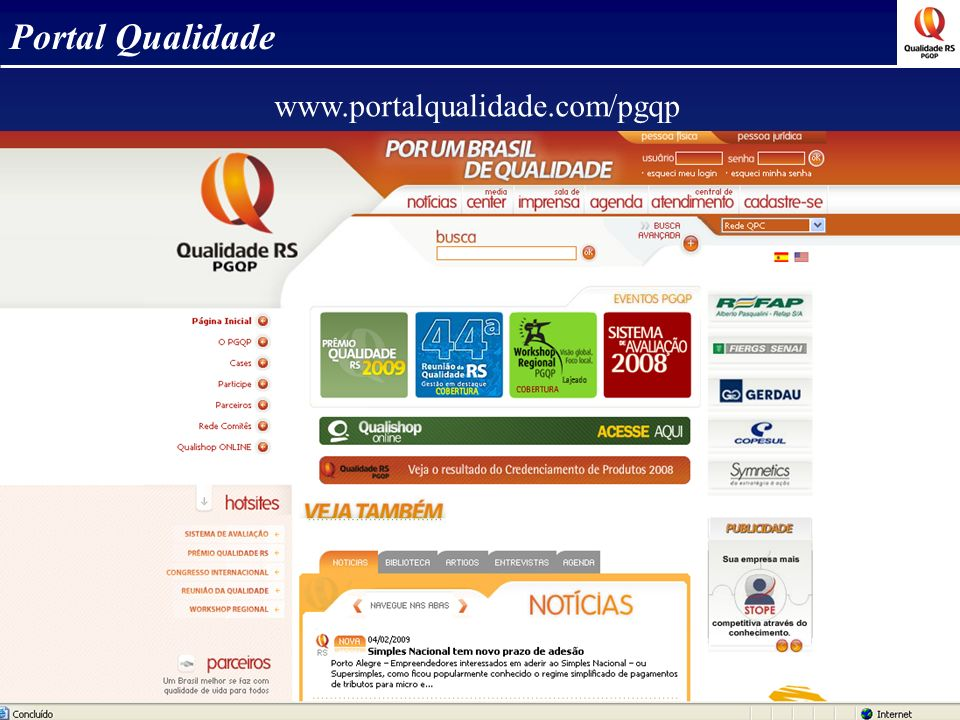 Portal Qualidade www.portalqualidade.com/pgqp