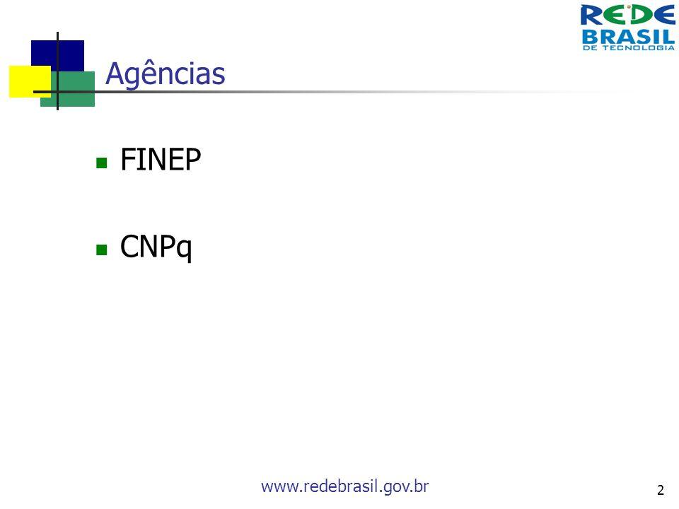 Agências FINEP CNPq